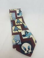 Looney Tunes Stamp Collection vintage  Mens Necktie Tie Rene Chagal