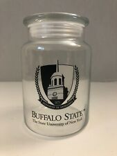 "Buffalo State College SUNY Airtight Glass Jar 5 3/4"" Tall"