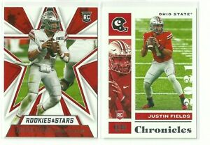 Lot of 2 - Justin Fields 2021 Chronicles Stars Rookie Cards (No. 2 + 302)