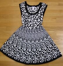 JUNIOR'S - CANDIES - DRESS - sleeveless leopard - Black/white - XS