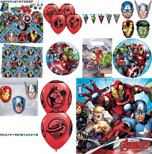 MARVEL MIGHTY AVENGERS Party Supplies Birthday Party Tableware Decorations