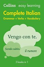 Complete Italian Grammar Verbs Vocabulary: 3 Books in 1 (Collins Easy Learning)-