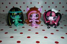 Monster High Miniature Dolls x 3 Cleo, Clawdeen & Draculaura.