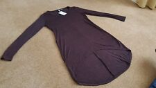 H&M DIVIDED AUBERGINE  Tunic Mini 2 Length top Size XS
