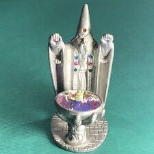 Spoontiques Rr1511 Pewter Figurine Wizard With Hand Cauldron Magic Crystal Gems