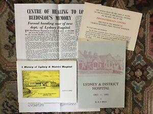 Lydney & District Hospital. 4 items