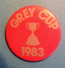 Rare Vintage 1983 Grey Cup Game CFL Football Hat Lapel Button Pin Vancouver BC
