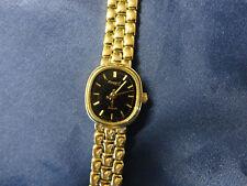 Damenuhr Armbanduhr Regent Band und Gehäuse Zifferblatt schwarz TOP