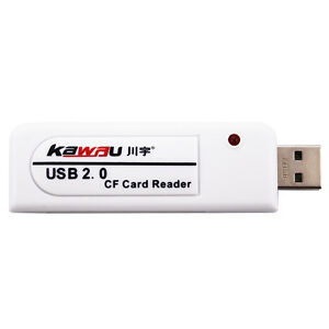 Kawau Compact Flash CF Card Reader White USB 2.0 CF USB ADAPTER