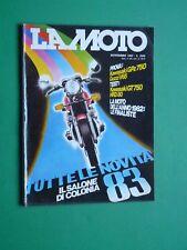 LA MOTO Novembre 1982 Kawasaki GPz 750 Gt HRD 80 Guzzi V 65 HRD 80 Cross Enduro