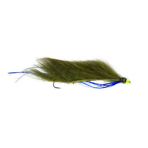 Snake fishing flies, olive and blue flash Barbless X3 Size 10 - Dragonflies