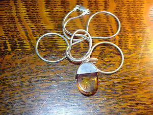 Silver & Amber Pendant