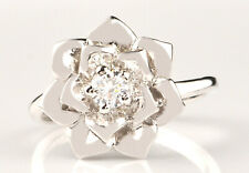 0.40Ct Solitaire Ravishing Women's Ring 925 Sterling Silver Round Shape