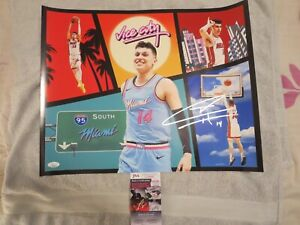 TYLER HERRO SIGNED 16X20 MIAMI HEAT PHOTO, MIAMI VICE. JSA. PERFECT 10 AUTOG.