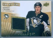 SIDNEY CROSBY 2014-15 TRILOGY TRYPTICHS GAME USED JERSEY SP/400