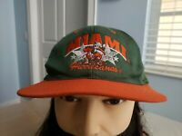 VTG University Of Miami Hurricanes Snapback Hat Cap Vintage 80s 90s Super Stars
