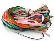 "15y Mixed Colours 25mm 1"" Premium Double Sided Faced Satin Ribbon Eco"