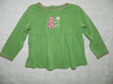 GYMBOREE girls Green Pink TURTLE FLOWER Long Sleeve TOP* 12 18 months