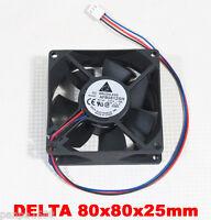 1x Delta AFB0812SH 80x80x25mm 80mm 8025 12V 0.51A 46CFM DC Brushless Cooling Fan