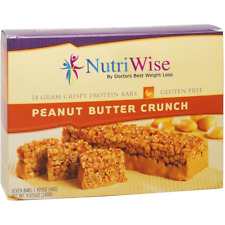 NUTRIWISE - Protein Diet Bars | Peanut Butter Crunch | 7/Box,Gluten Free Low Fat