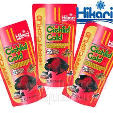 3 Pack Cichlid Gold Large Sized Pellet Fish Food Hikari 8.8oz