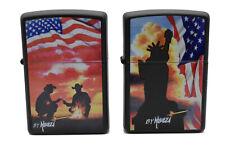 2 Zippo Set: Mazzi Cowboy + Statue of Liberty limited jeweils  Nr.0001/1000