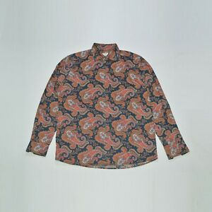 Eton of Sweden Contemporary Paisley Cotton Dress Shirt 7661 Size 43 / 17