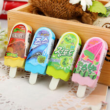Funny 3D Ice Cream Popsicle Shape Eraser Rubber Kids Student School Stationery