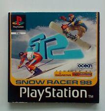 * Istruzioni Solo * Snow Racer 98 manuale di istruzioni PS1 PSONE PLAYSTATION