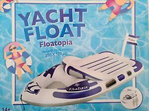 Große Badeinsel Boot  Badeboot aufblasbar für Pool und Urlaub