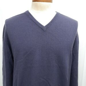 """Saks Fifth Avenue Made in Scotland Cashmere Sweater 46""""/117 Purple XL Large"""