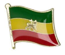 ETHIOPIA LION of JUDAH / RASTA Flag Lapel Pin Badge  High Quality Gloss Enamel