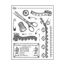 Viva Decor A5 Clear Silicone Stamps Set - Tailoring #83