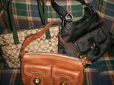 NWT GUC COACH PURSE LOT OF 3 HANDBAG HOBO BAGS 65TH ANNIVERSARY WHISKEY