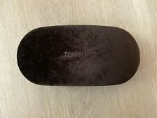 TOM FORD Suede Brown Sunglasses Glasses Hard Case