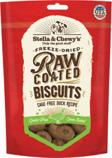 Stella & Chewy's RAW COATED GRASS FED DOG BISCUITS Dog Treats 9 oz DUCK  USA