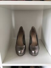 Used Carvela Metallic High Heel Platform Court Shoes Size 40