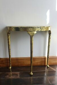 Table Black with a Gold Leaf Ornate Occasional Hall Lamp Telephone Vintage style