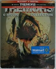 NEW SEALED TREMORS 6-MOVIE COLLECTION BLU RAY 4 DISC WALMART EXCLUSIVE STEELBOOK