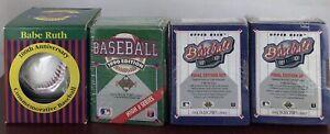 Babe Ruth 100th Anniversary BaseBall 1895-1995 in Box And Baseball Card  3-Boxes