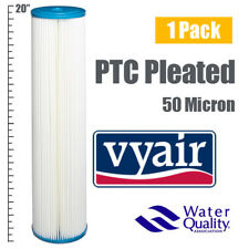 "VYAIR 20"" JUMBO 50 Micron Pleated / Sediment / Reverse Osmosis Water Filter x 1"