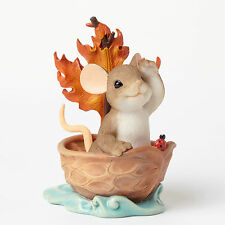 Charming Tails Beautiful Things Mouse Autumn Fall Boat 4046808 New Figurine