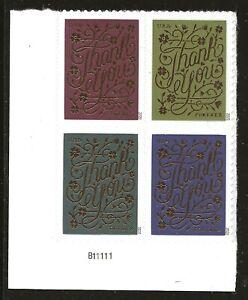 US Scott #5522a, Plate Block #B11111 2020 Thank You VF MNH Lower Left
