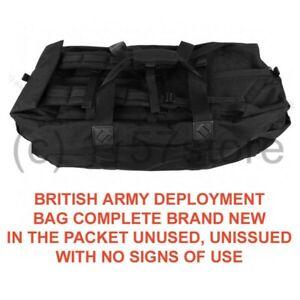 BRAND NEW British Army NATO Black Holdall Deployment Bag Rucksack