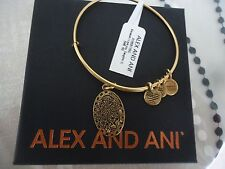 Alex and Ani Because I Love You DAUGHTER II Russian Gold Bangle NWT Card & Box