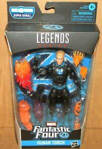 """HUMAN TORCH JOHNNY STORM Marvel Legends Super Skrull BAF 2020 6"""" Fantastic Four"""