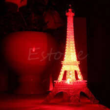 Lovely Eiffel Tower Night Light Cute LED Lamp Desk Bedroom Decor Small Lighting