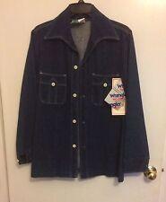 NOS Vintage 70's  Disco Wrangler Big Collar Denim Leisure Suit Blazer Jacket 36