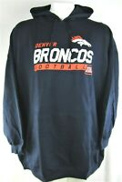 Denver Broncos NFL Men's Team Apparel Navy Blue Pull Over Hoodie