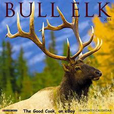 2018 Bull Elk Hunt Hunting Hunter 18 Month Large 12x24 Color Wall Calendar New